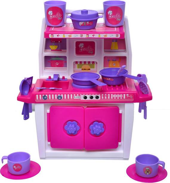 ToyDor BARBIE Doll kitchen set for girls kids Toys For Kids Non Toxic BPA Free Material used( MEDIUM SIZE) Height 30 cm Width 21 cm