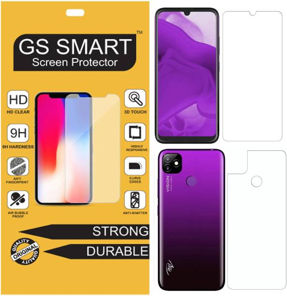 GS Smart Front and Back Tempered Glass for Itel Vision 1 {Flexible}