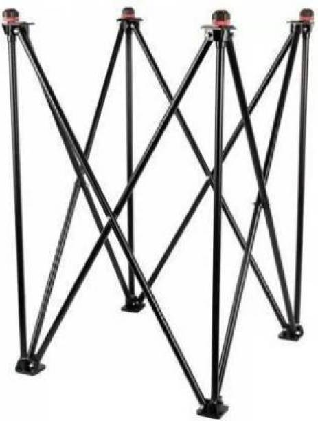 N.A. SPORTS Foldable Height Adjustable Carrom Stand Steel Black Carrom Stand