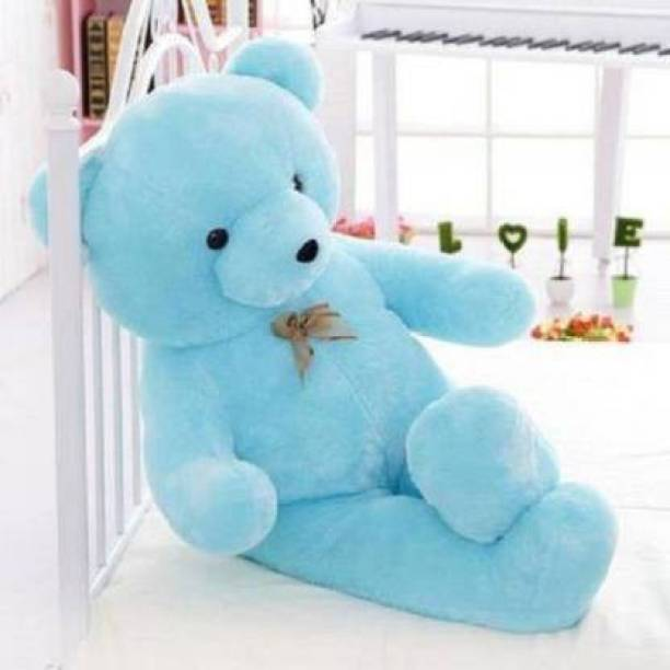 Teddy Weddy StuffedTeddy Bear 3 feet Long Soft Sky Blue bear BIRTHDAY GIFT - 90.5 cm (Blue)  - 90.5 cm