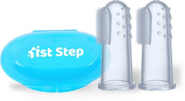 1st Step Blue Finger Soft Toothbrush