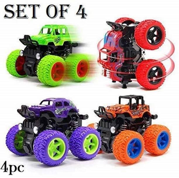 Neel Mini Monster Trucks Friction Powered Cars for Kids Big Rubber Tires Baby Boys Super Cars Blaze Truck Children Gift Toys Mini Rock Crawler