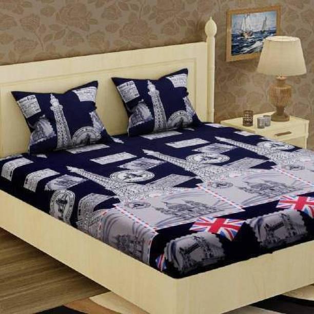 neet enterprises 140 TC Cotton Double Printed Bedsheet