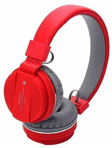 LINCTECH HIGH BASS SOUND, SD CARD SUPPORTABLE HEADPHONE Bluetooth, Wired Headset