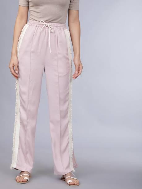 Tokyo Talkies Regular Fit Women Pink Trousers