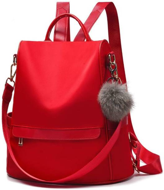 ONLAND PU Leather College Backpack For Women 5 L Backpack (Black) 5 L Backpack