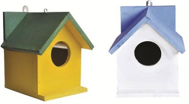 ganga enterprise Combo Bird House Nest for Sparrow Pack of 2 Bird House