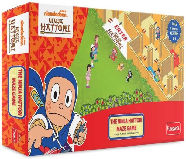 FUNSKOOL The Ninja Hattori Maze Game Party & Fun Games Board Game