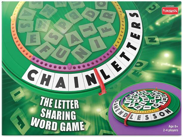 FUNSKOOL Chain Letters Word Games Board Game