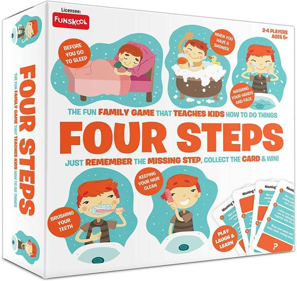 FUNSKOOL Four Steps A Simple Game For Daily Routine Educational Board Games Board Game