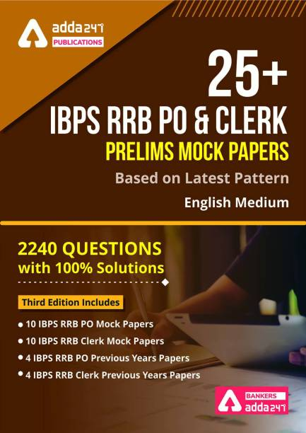 IBPS RRB PO & Clerk Prelims Mocks Test Papers 2020 English Printed Edition