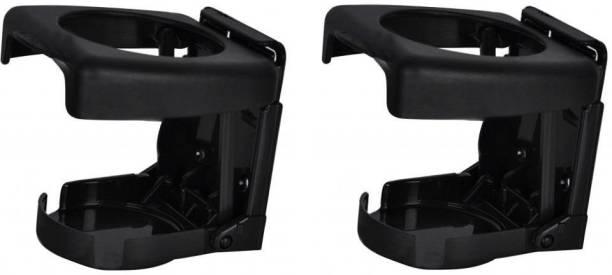 AUTONEST A10115 Foldable Car Drink/Can/Glass Bottle Holder (Set of 2) (Black) Car Bottle Holder