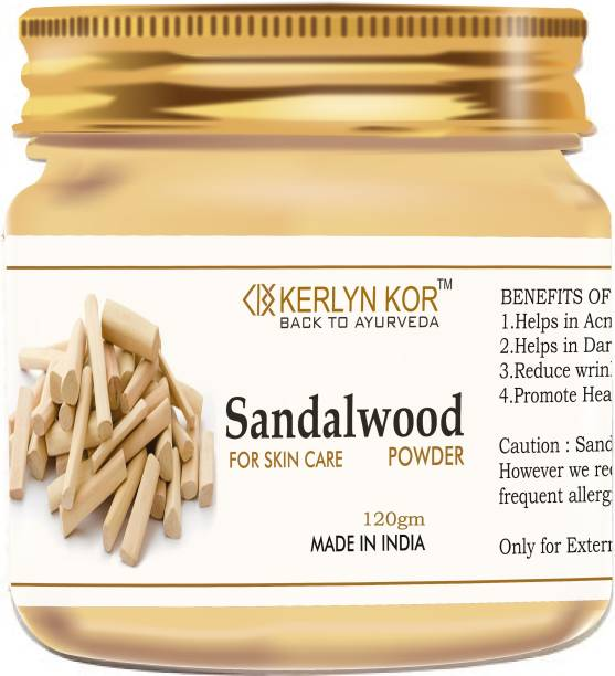 Kerlyn Kor Organic Sandalwood Powder for Face Pack - 120 gm