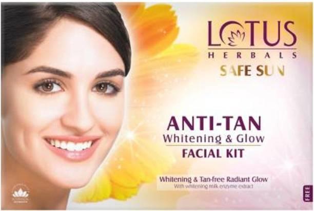 LOTUS HERBALS SAFE SUN Anti-Tan Whitening & Glow Facial Kit