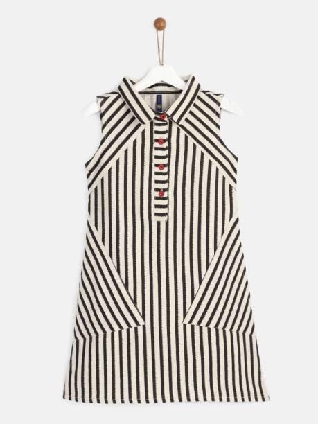 Yk Girls Midi/Knee Length Casual Dress