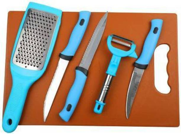 enrics Stainless Steel Kitchen 3-Pieces Knife Set 1 Peeler and 1 Greater with Chopping Board. CHOPPING BOARD WITH KNIFE SET Kitchen Tool Set Stainless Steel Kitchen 3-Pieces Knife Set 1 Peeler and 1 Greater with Chopping Board. CHOPPING BOARD WITH KNIFE SET Kitchen Tool Set Kitchen Tool Set