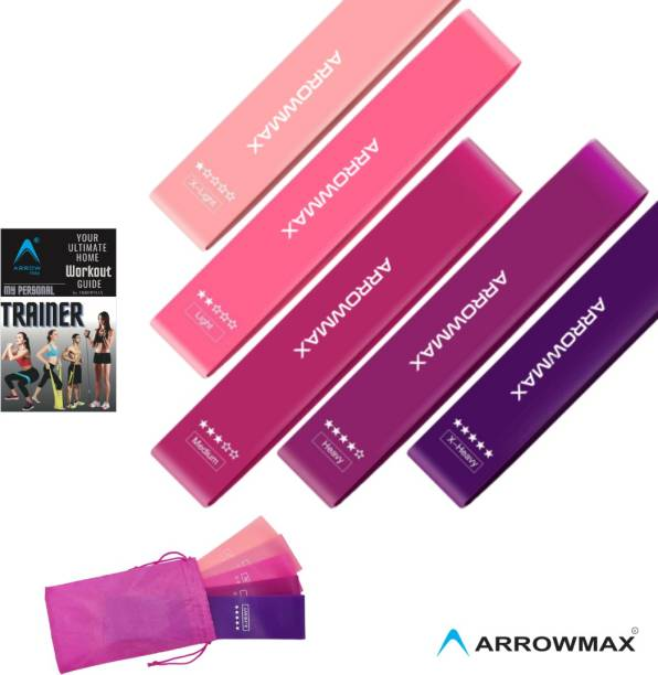 ArrowMax NEW LOOP RESISTANCE EXERCISE STRETCH BANDS FOR GLUTES THIGHS BUTT 5 LEVELS Resistance Tube