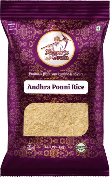 Farmers Grain Traditional Andhra Ponni Rice (1 kg) Ponni Rice (Medium Grain, Parboiled)