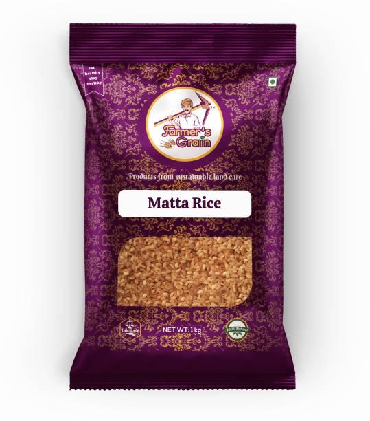 Farmers Grain Traditional Matta Rice (1 kg) Red Boiled Rice (Medium Grain, Parboiled)