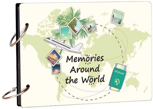 100yellow Memories Around The World 20 pages Theme,  Scrapbook Kit