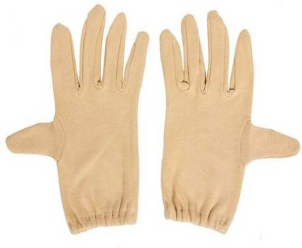 VT Virtue Trader Men 10 Inches Hand Glove For -Free Size Beige Pack 1 Cycling Gloves
