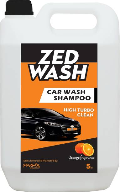 Zedwash Highly Concentrate Carwash Liquid | Neutral pH & Polymer based Formula | Bucket Foam & Snow Foam Wash Car Washing Liquid