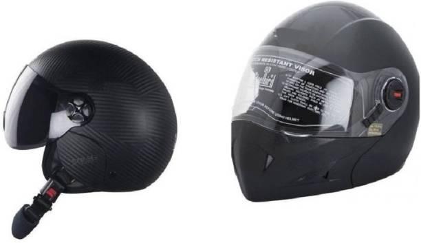 Steelbird SET OF 2 COMBO All Purpose Safety Helmet Motorbike Helmet