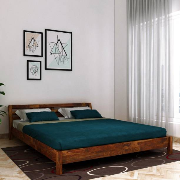 Vintej Home Hugo Sheesham Solid Wood Queen Bed