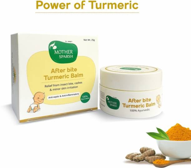 Mother Sparsh After Bite Turmeric Balm for Rashes and Mosquito Bites, 100% Ayurvedic, Gentle Skin Roll-on Formula