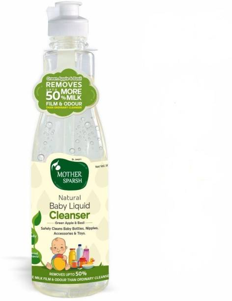 Mother Sparsh Natural Baby Liquid Cleanser (Powered by Plants) Anti- Bacterial Cleanser for Baby Bottles, Nipples, Accessories and Toys Multi-Fragrance Liquid Detergent