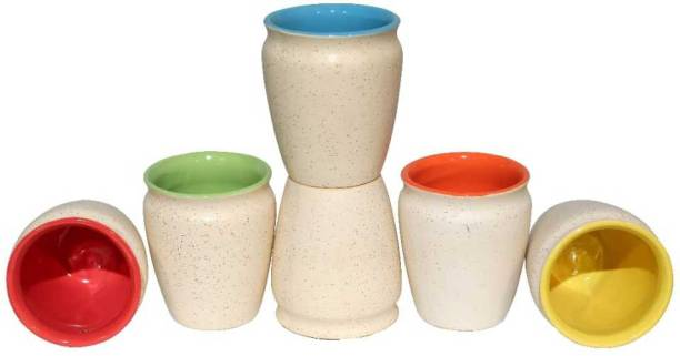 THE GRAND GIFT Pack of 6 Ceramic kullhad cup