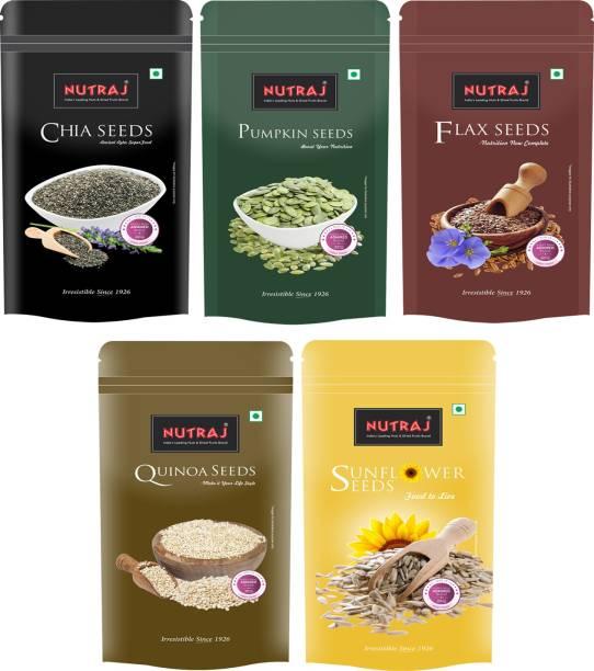 Nutraj Chia , Sunflower Seeds, Flax Seeds, Pumpkin Seeds, Quinoa Seeds