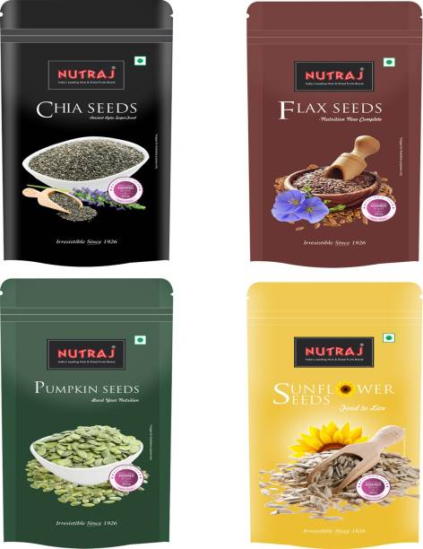 Nutraj Combo Pack (Pumpkin, Chia, Flax, Sunflower) Seeds