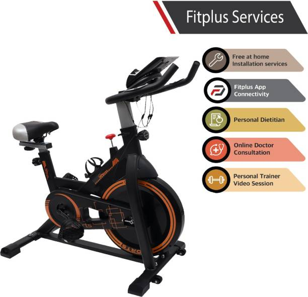 RPM Fitness RPM610 (14lbs Flywheel) with Free Diet Plan,Trainer & Installation Services Spinner Exercise Bike