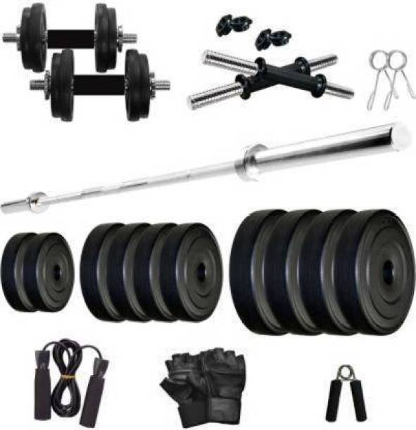 gb 8kg Combo With Straight Rod 3 Feet For Home Gym Gym & Fitness Kit