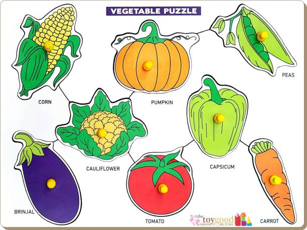 TheToyGood Knobbed Puzzle - Vegetables