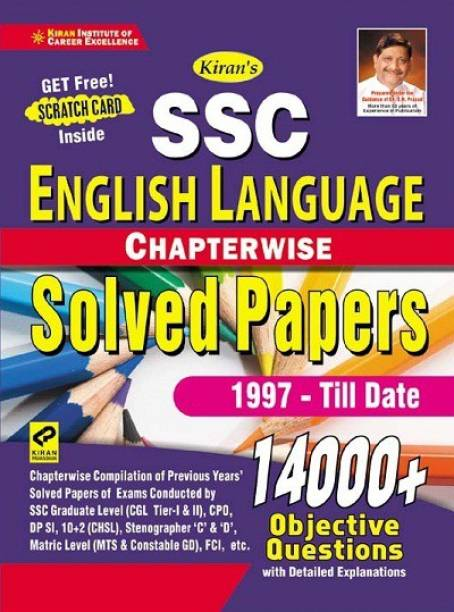 Kiran Ssc English Language Chapterwise Solved Papers 14000+ Objective Questions