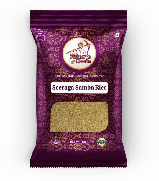 Farmers Grain Traditional Seeraga Samba Rice (1 kg) Boiled Rice (Medium Grain, Parboiled)