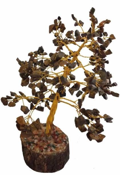 Anant creations Tiger Eye Tree Bonsai Decorative Showpiece  -  20 cm
