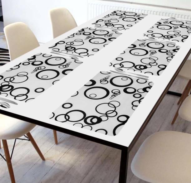 Swizier Black, White PVC Table Linen Set