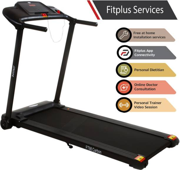 FITKIT FT Carbon (2HP Peak Power) Motorized with Free Installation Services Treadmill