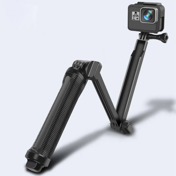 SOUVENIR 3 Way Monopod Mount Tripod for GoPro Hero 1 2 3 3+ 4 go pro SJ4000 Way All Action Cameras Accessories - Floatable and Foldable Selfie Stick Stabilizer Adjustable Angle Monopod