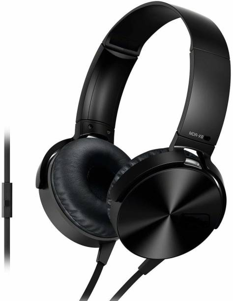 MAGBOT Extra bass Headphones Over The Ear Headset with Calling MIc Wired Headset