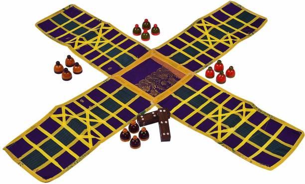 Smartcraft Ludo / Indian Ludo / chausar / Indian Board Game- Multicolor Educational Board Games Board Game