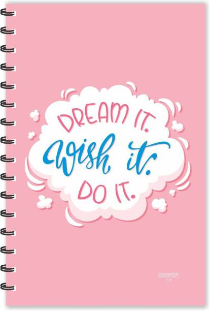 ESCAPER Dream It. Wish It. Do It. Motivational Quotes Diary (Ruled-A5), Quotes on Diary A5 Diary Ruled 160 Pages