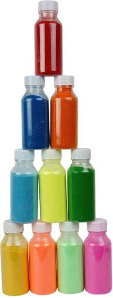 Jars Collections Pack of 10 Rangoli Powder