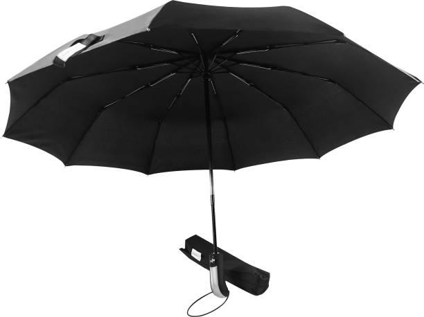 Destinio Large Umbrella (23 inch) for Men and Women– 3 Fold with Auto Open and Close (Black) Umbrella