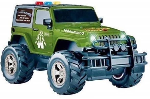 Smartcraft Mahindra Indian Legend Jeep, Friction Power Toy Jeep for 3+ Years Old Boys and Girls with Lights and Sound
