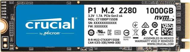 Crucial P2 1000 GB All in One PC's, Desktop, Laptop Internal Solid State Drive (CT1000P1SSD8)