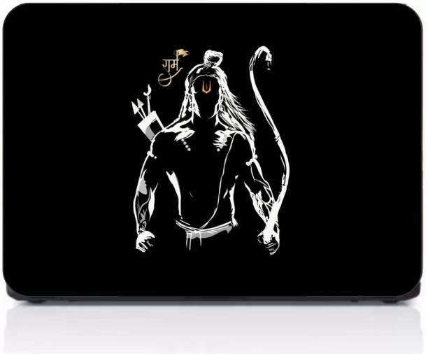 Gprint High & Digital Quality Laptop Laminated Shri Ram Cover Print Vinyl Laptop Decal 15.6